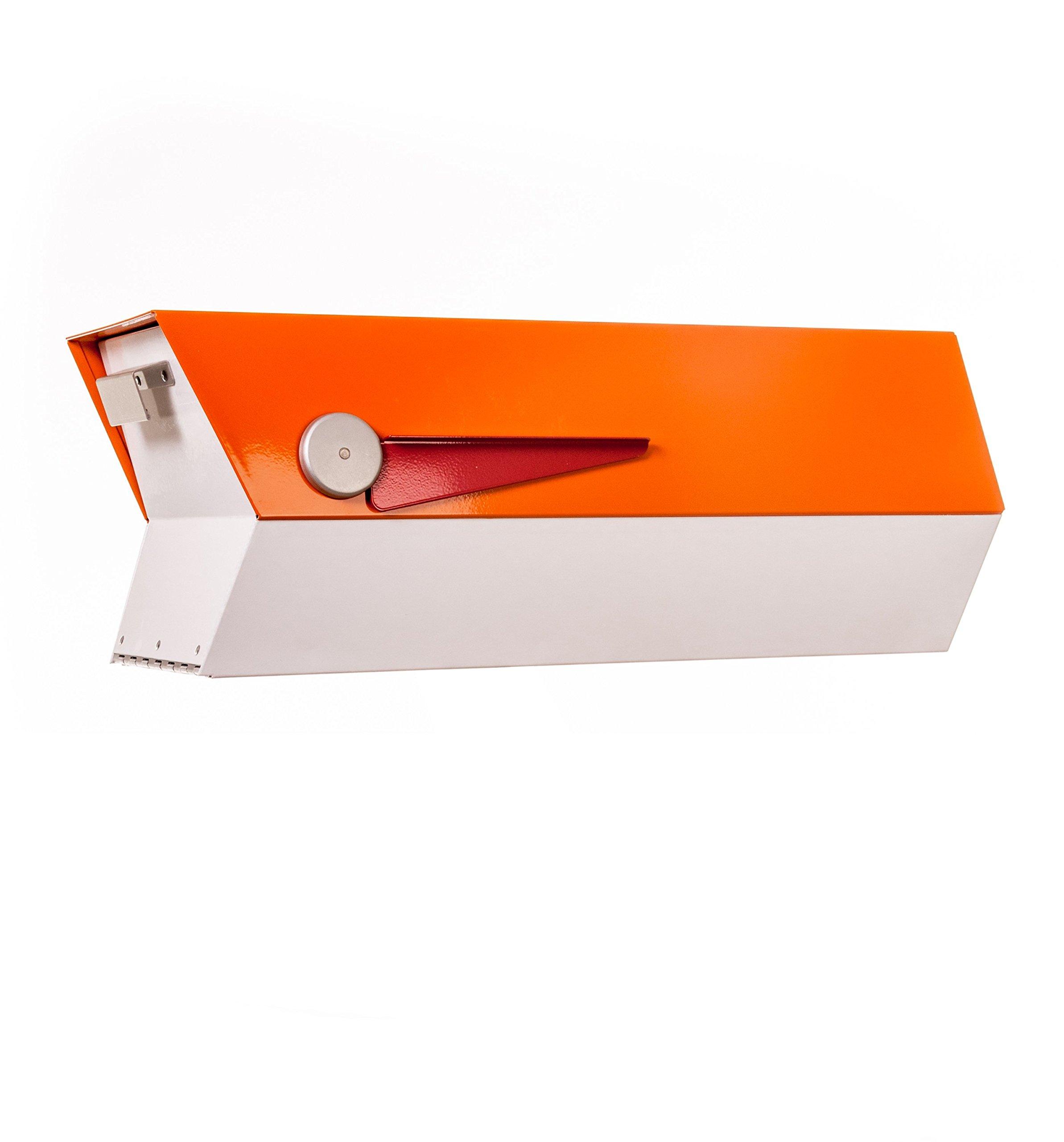 Mid-Century Modern Mailbox | modbox (orange/white)