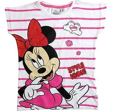 f82680835 Minnie Mouse - Camiseta de Manga Corta - para niña  Amazon.es  Ropa ...
