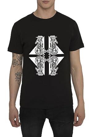 Camisetas Vintage Rock Diseño Moda para Hombre, Camiseta Negra Gris de Algodón con Estampados -