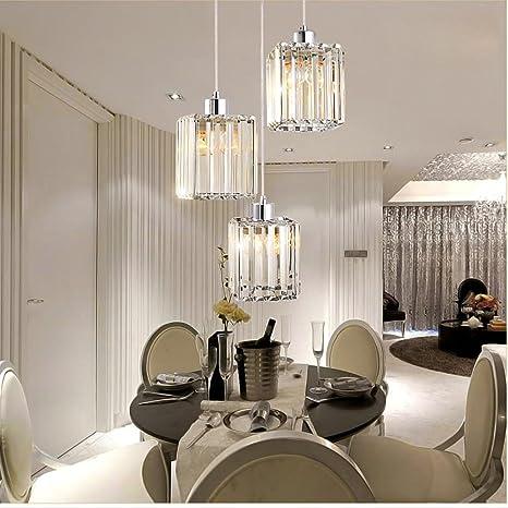 Modern toque minimalista Cristal Lámpara colgante clásico ...