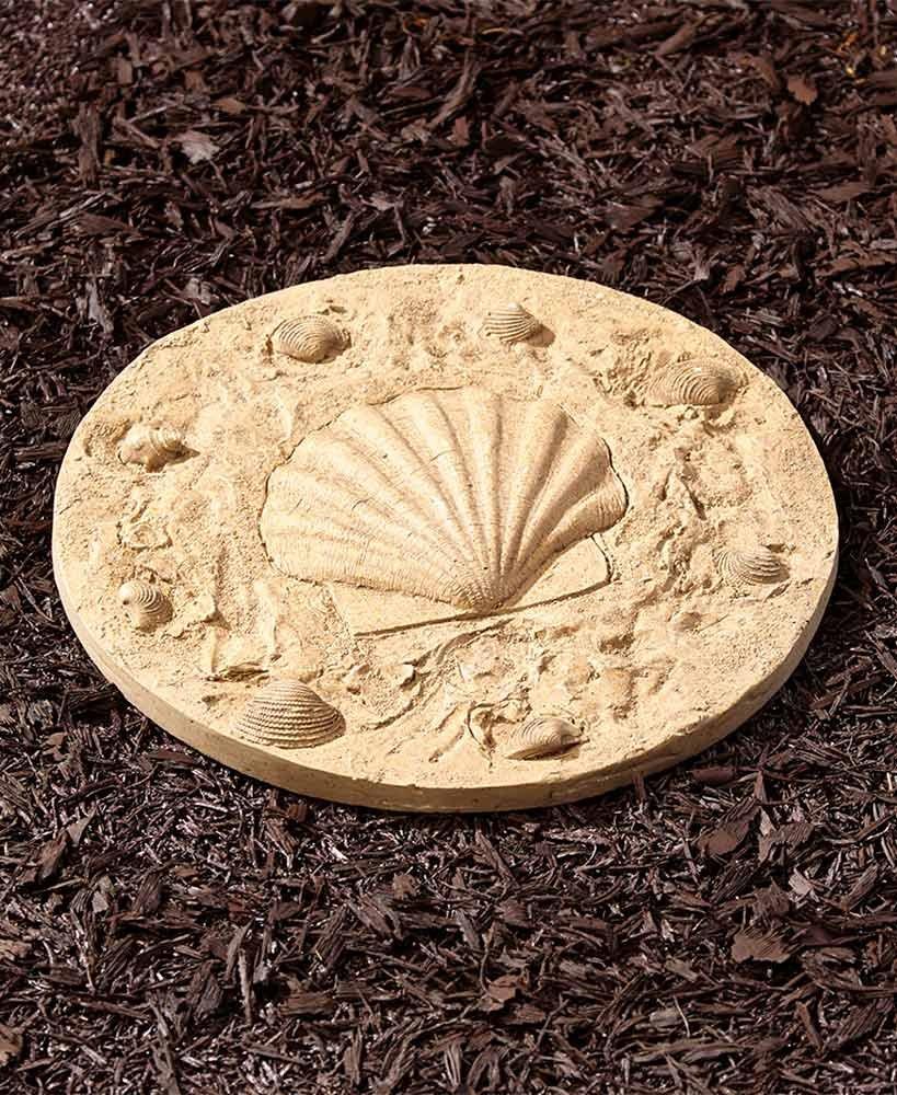 The Lakeside Collection Coastal Garden Steppingstone- Seashell