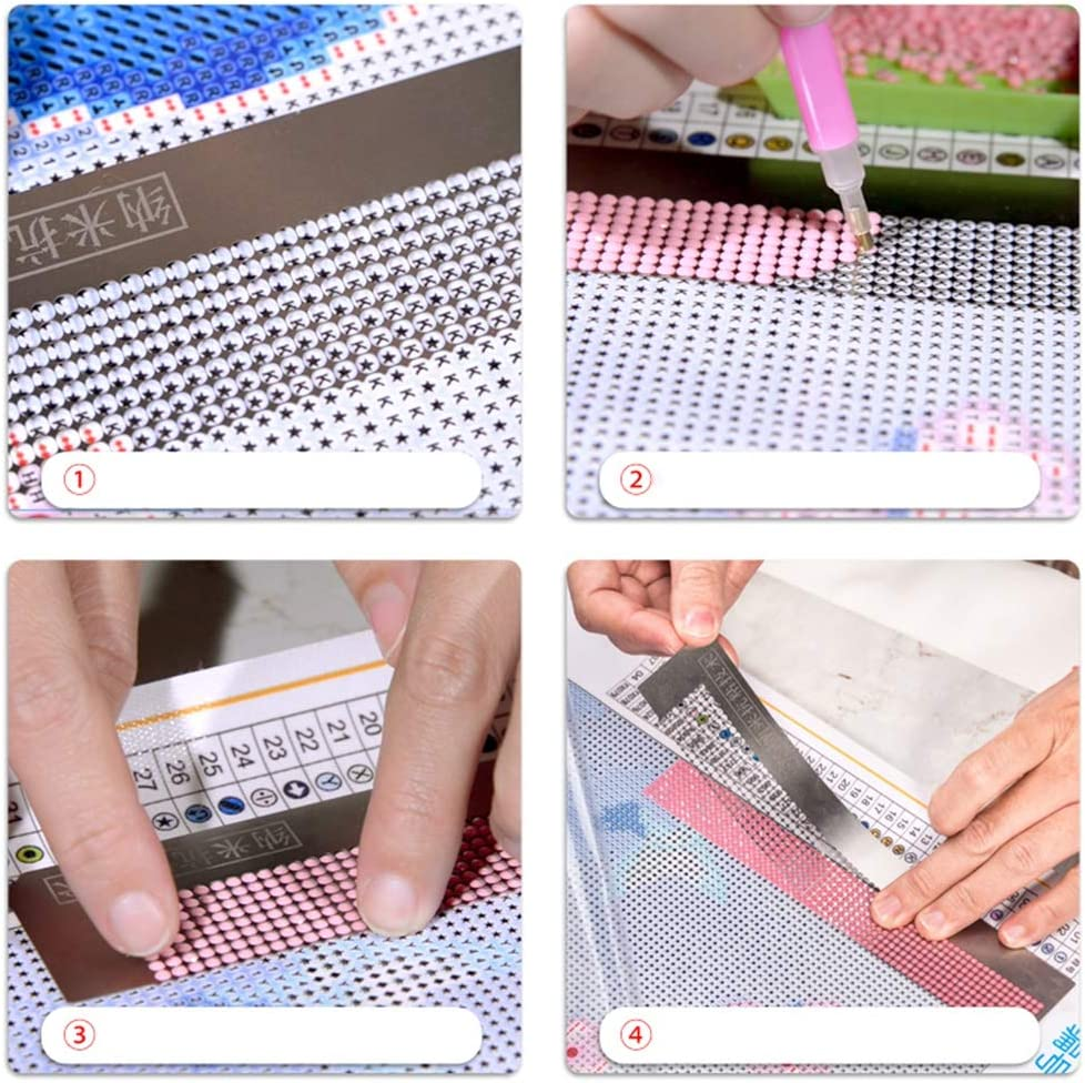 Iswell 31cm 800 Holes 140mm Diamond Painting Net Ruler Mold Nano Point Drill Ruler Diamond Painting Cross Stitch Net Screen Ruler Blank Grids Tool Art Craft