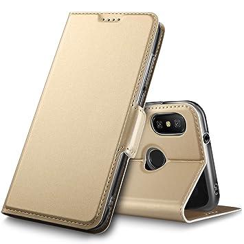 GeeMai Xiaomi Redmi 6 Pro Hülle, Xiaomi Mi A2 Lite Hülle, Leder Hülle Flip Case Tasche Hüllen mit Magnetverschluss Standfunktion Schutzhülle
