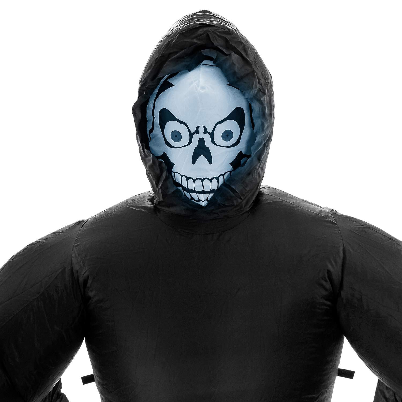 Halloween Haunters Giant 7 Foot Inflatable Beckoning Black Grim