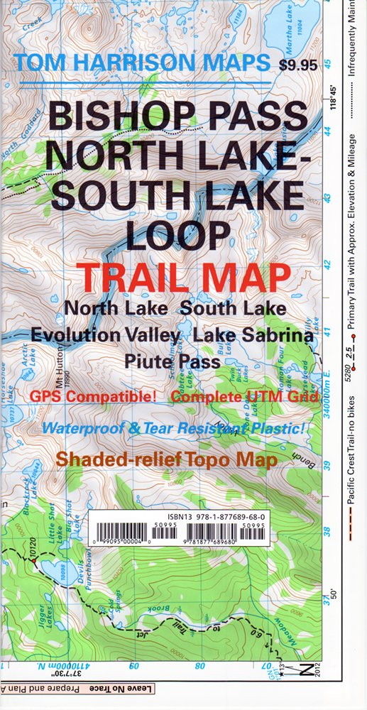 north lake to south lake loop map Amazon In Buy Bishop Pass North Lake South Lake Evolution north lake to south lake loop map