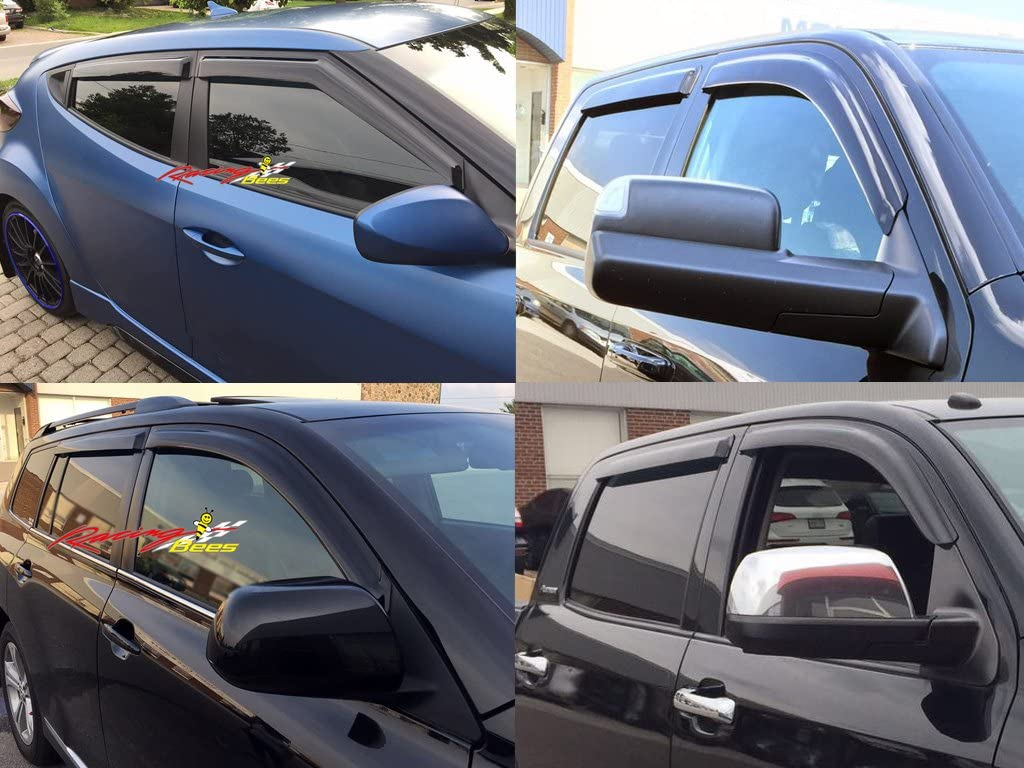 2012 2013 2014 2015 2016 2017 4 Pcs Racingbees Mercedes-Benz ML-Class W166 Side Window Visor