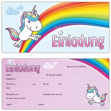 Einhorn Einladungskarten Zum Kindergeburtstag Von Beriludesign