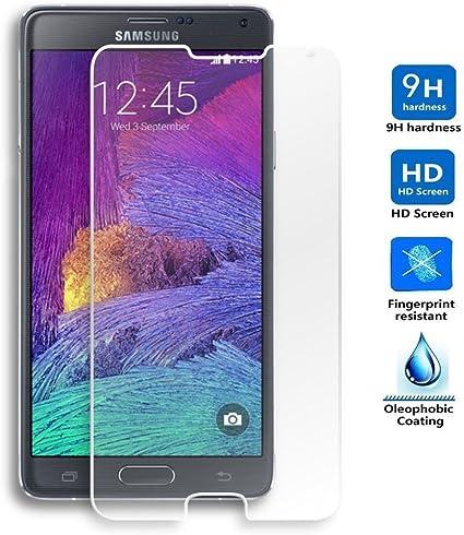 REY Protector de Pantalla para Samsung Galaxy Note 4 Cristal Vidrio Templado Premium: Amazon.es: Electrónica