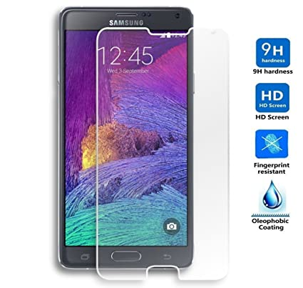 95c95b5196e Protector de Pantalla para Samsung Galaxy Note 4 Cristal Vidrio Templado  Premium, Electrónica Rey®