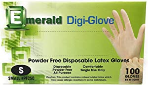 Disposable Gloves Hand Nitrile Vinyl Gloves, Latex Free, Allergy Free, Powder Free, Non-Sterile, Healthcare, Food Handling Use, Safeguard Protection 100 Count (Small)