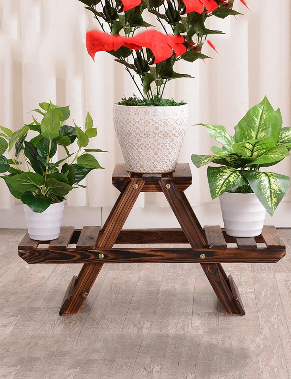 LB Kreative Massivholz Die Zweite Etage Boden Typ Bonsai Blumenregal Balkon  Wohnzimmer Innen Holz Blumenregal Montage Blumentopf Regal ( Farbe : A )  Günstig