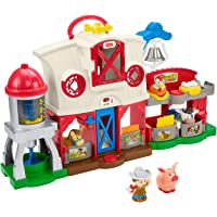 Fisher-Price Little People Caring for Animals Farm Playset with Smart Stages learning content for toddlers and preschool…