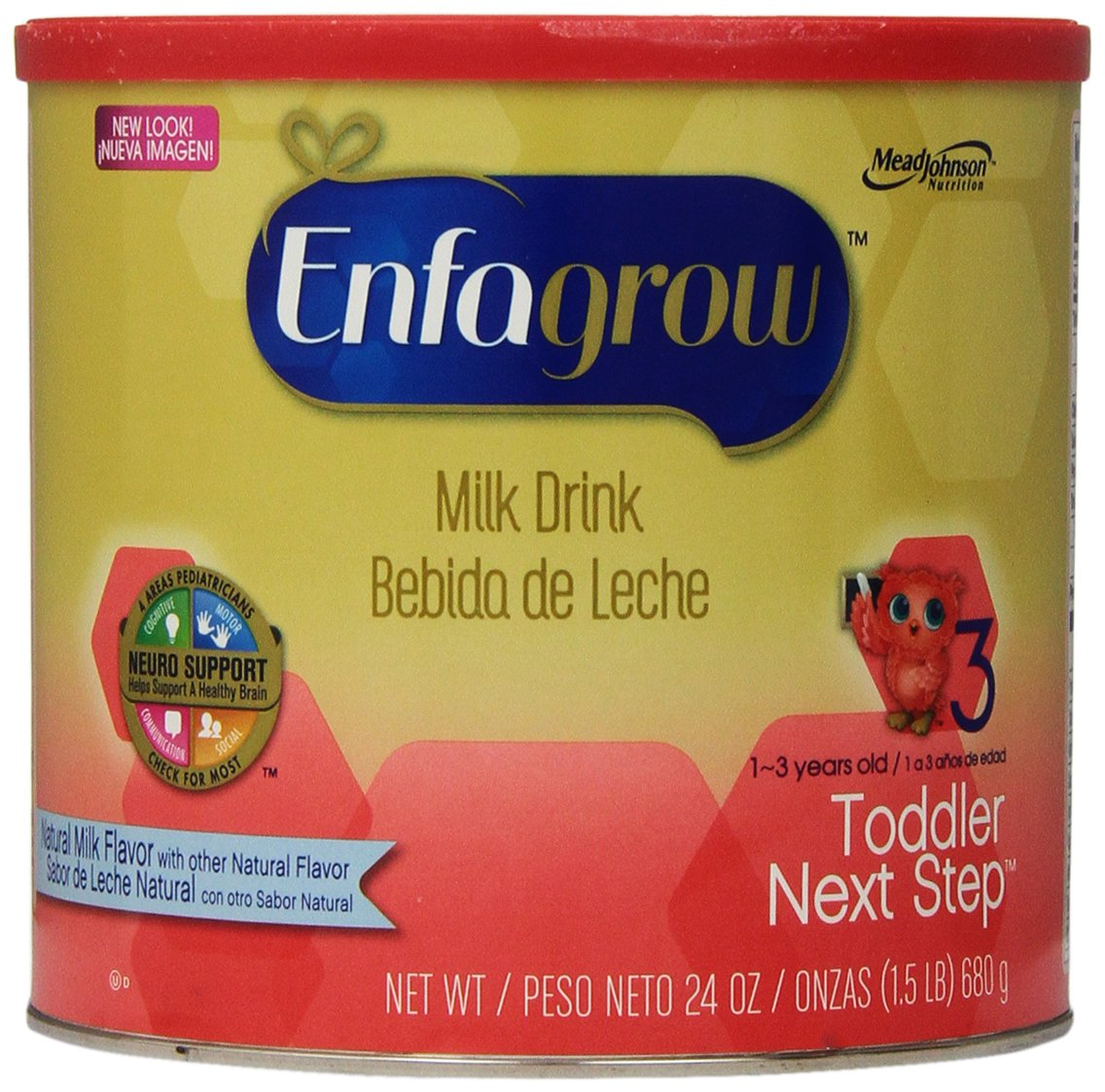 Enfagrow Toddler Next Step Toddler Milk Drink - Natural Milk Flavor - Powder - 24 oz - 4 pk