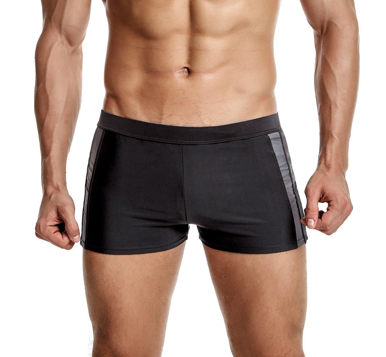 ATTRACO Mens Swim Boexer Briefs Square Leg Swim Trunks Quick Dry Board Short