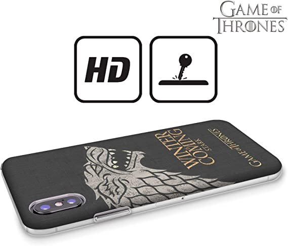 Official HBO Game of Thrones Stark House Mottos Hard Back Case ...