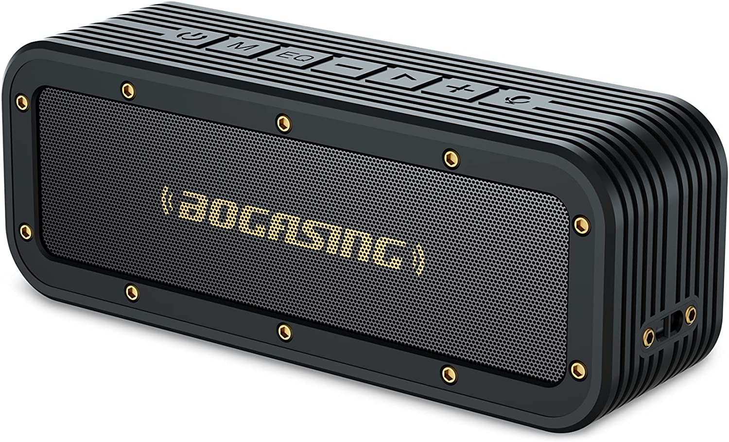 Bluetooth Speaker, BOGASING M4 Speaker with 40W Stereo HD Surround Sound, Deeper Bass, 24H Playtime, IPX7 Waterproof, Bluetooth 5.0 TWS Wireless Dual Pairing Portable Speaker for Home, Outdoor Sport