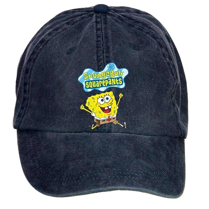 72855f7d1d0e3 Chengxingda bob esponja dibujos animados logo algodón lavar gorra de  béisbol ajustable plain hats caps ropa