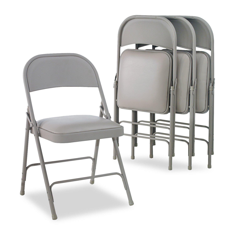 Amazon Alera ALEFC94VY40LG Steel Folding Chair with Two Brace