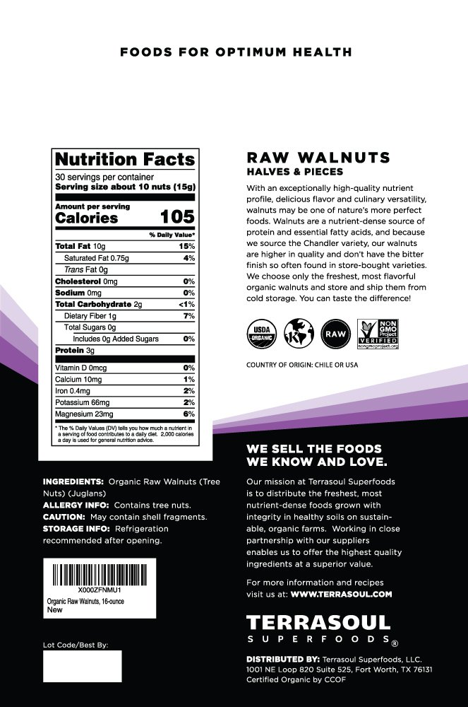 Terrasoul Superfoods Organic Raw Walnuts, 3 Pounds by Terrasoul Superfoods (Image #2)