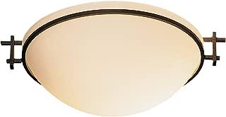 product image for Hubbardton Forge 124251-20-S45 Moonband Semi-Flush Pendant, SGlass, Natural Iron Finish