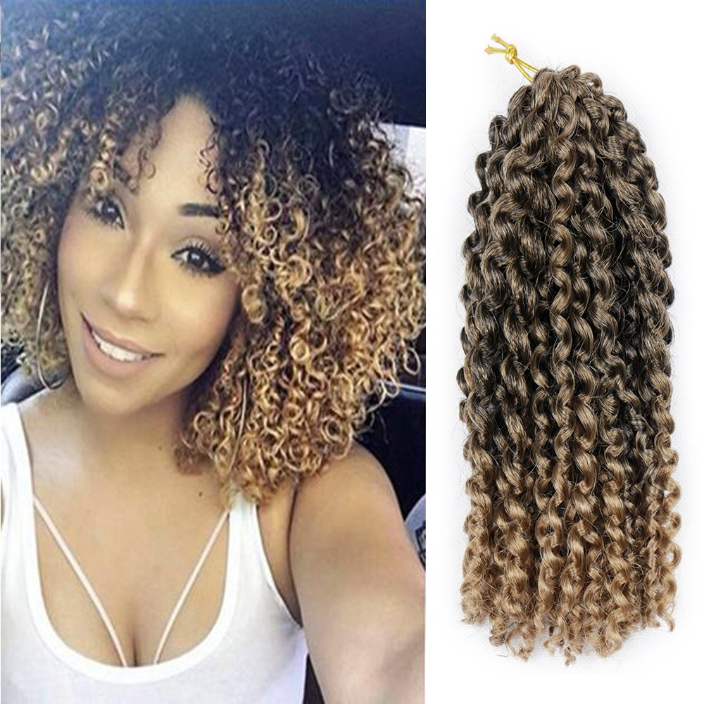 12 6bundles T1b 27 Befunny 6bundles Lot 12 Jerry Curl Ombre Marley Crochet Hair Deep Curly Marlybob Crochet Twists Shoulder Length Crochet Braids Synthetic Braiding Human Hair Extension Amazon In Health Personal Care