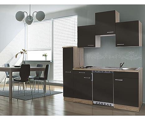respekta Single cucina cucina riga Blocco cucina 180 cm Rovere ...