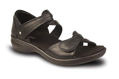 Revere Geneva Women's Comfort Sandal w. Removable Foot Bed & Adjustable  Strap: Black 5