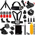Luxebell Accessories Kit for AKASO EK5000 EK7000 4K WiFi Action Camera Gopro Hero 8 7 6 5/Session 5/Hero 4/3+/3/2/1 Max Fusion