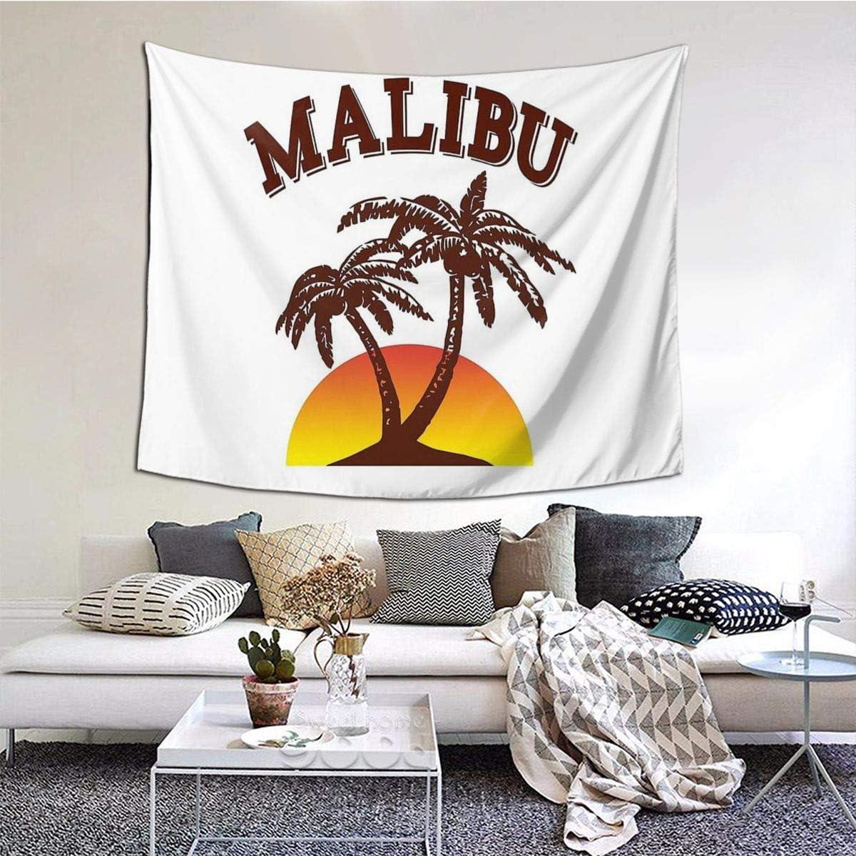 Malibu Rum Home Decor Art Wall Hanging Bedroom Living Room Dorm Tapestry 60 X 51 Inch