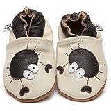 Suaves Zapatos De Cuero Del Bebé Cangrejo 12-18 meses