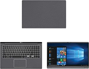 "Decalrus - Protective Decal for LG Gram 15Z990 (15.6"" Screen) Laptop Grey Carbon Fiber Skin case Cover wrap CFlgGram_15z990Grey"