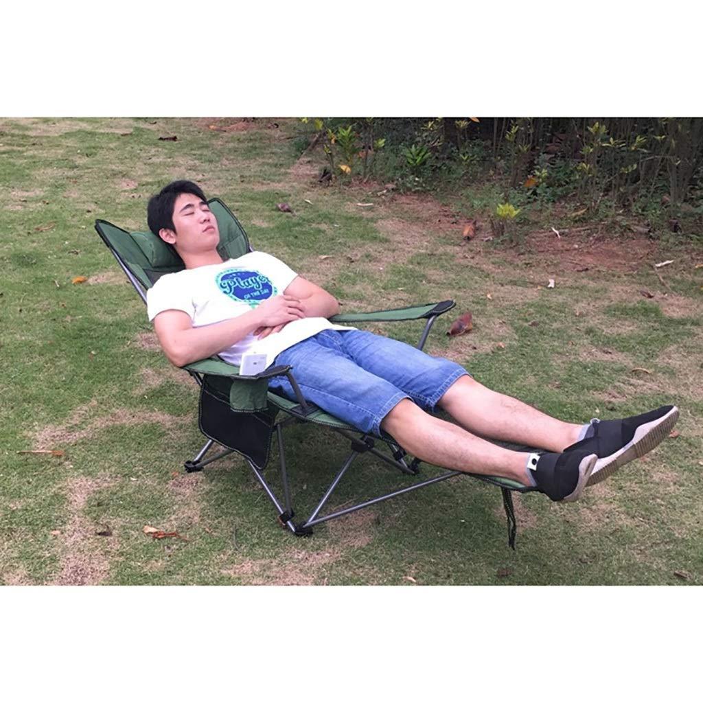 Gungstol, läggning Siesta bänkstol soffa vinter/hopfällbar tupplur vilstol sittande/sommar fiske strandstol utomhus/hem vardagsrum stol (färg: blå) BLÅ