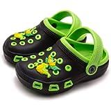 Knemksplanet Toddler Little Kids Clogs Slippers Sandals, Non-Slip Girls Boys Clogs Slide Lightweight Garden Shoes Slip…