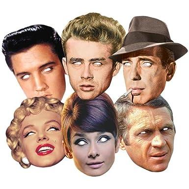 Hollywood Party Karte Partei Gesichtsmasken (Maske) Classic Packung ...