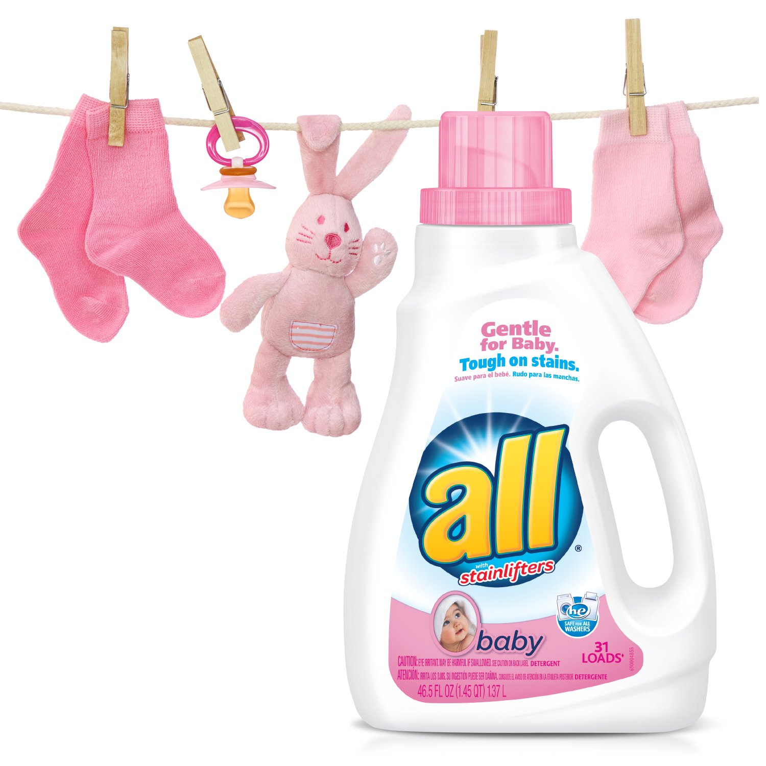 Amazon: All Baby Liquid Laundry Detergent, 465 Fluid Ounces, 31 Loads:  Health & Personal Care