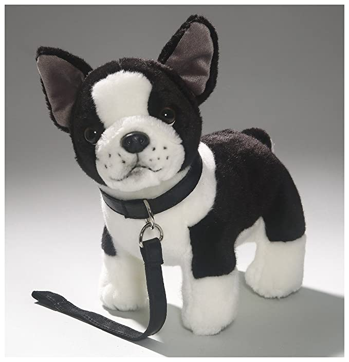 Amazon.com: Carl Dick French Bulldog with lead, 9 inches, 25cm, Plush Toy, Soft Toy, Stuffed Animal 3360: Toys & Games