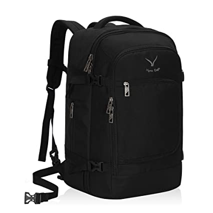 6f10360451b0 Hynes Eagle 40L Carry on Backpack Flight Approved Hand Luggage Travel Cabin  Bag 51x34x25cm (Backpack, Black)