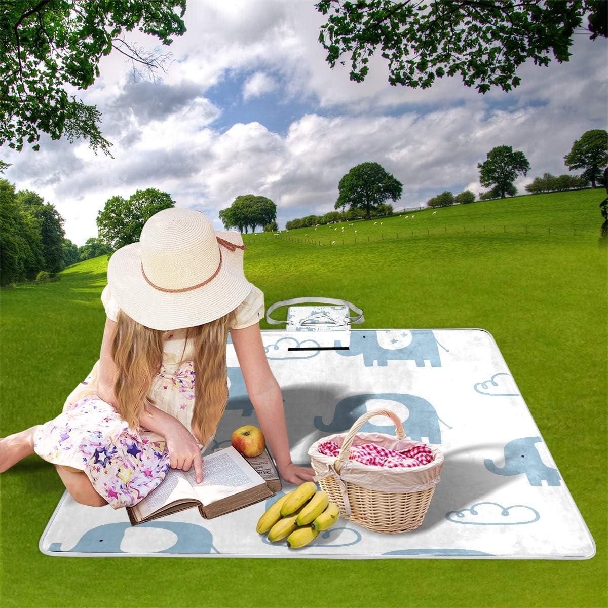 XINGAKA Coperta da Picnic Tappetino Campeggio,Fiori Svegli Senza Cuciture,Giardino Spiaggia Impermeabile Anti Sabbia 16