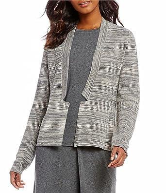 60f5f24fd9fd48 Eileen Fisher Maple Oat Tencel/Organic Cotton Notch Collar Cardigan Size XS  MSRP $288