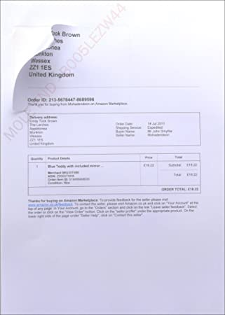 Amazon Despatch Note Invoice Integrated Label Paper Invoice With - Integrated label invoice paper