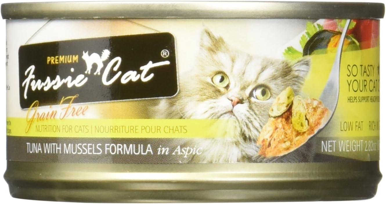 Fussie Cat Premium Tuna with Mussels in Aspic Cat Food 24ea/2.82oz
