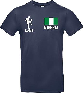 Shirtstown Camiseta de Hombres Camiseta de Fútbol Nigeria con Su ...