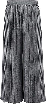 Mujer Pantalones Anchos Elastische Pantalones Falda Elegantes ...