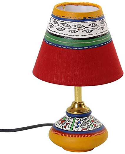 Buy aapno rajasthan terracotta lamp base with hand painted lamp aapno rajasthan terracotta lamp base with hand painted lamp shade aloadofball Image collections
