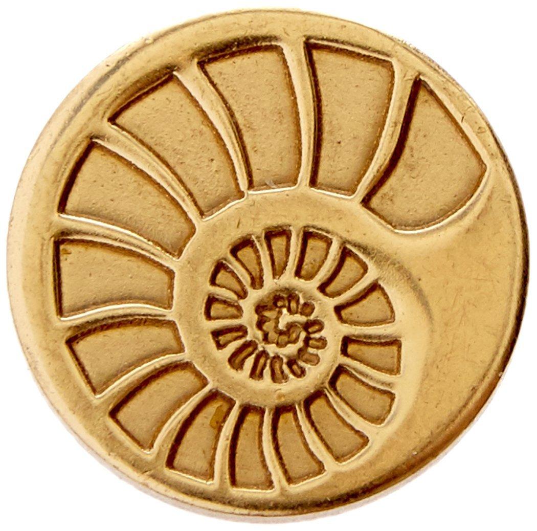 Manuscript Pen 727SHL Decorative Seal Coin, 0.75-Inch, Shell