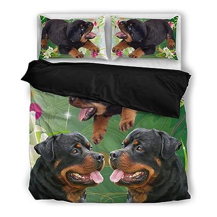 Amazoncom Cutepetstuffcom Bedding Set Rottweiler Dog Print