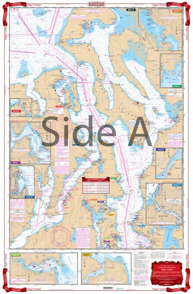 Waterproof Charts, Standard Navigation 30 Puget Sound