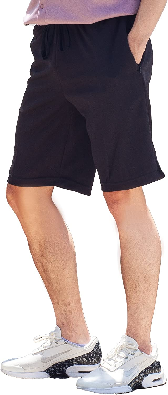 "B2BODY Shorts for Men with Invisible Zipper Pockets and Hidden Stash Pocket Elastic Waist Drawstring 10"" Short"