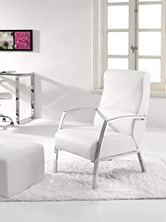 Due-home Sillon butaca Fija, Color Blanco: Amazon.es: Hogar
