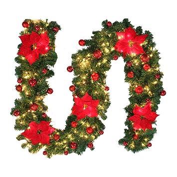 Amazon De 2 7m Tannengirlande Weihnachtsgirlande Beleuchtung